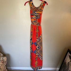 Lovers + Friends Red Openback Maxi Dress small